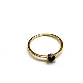 Ring gold-plated Onyx