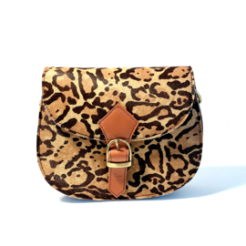 Tas Coco- animalprint/oranje gesp