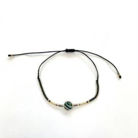 Miyuki armbandje Abalone rond
