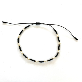 Miyuki armbandje black pearl