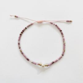 Miyuki armbandje pink pearl