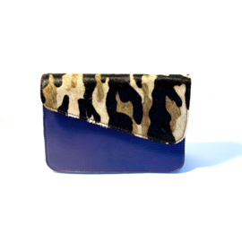 Donna-blauw/koeienprint