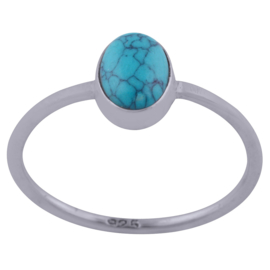 Sterling zilver delicate Turquoise ring