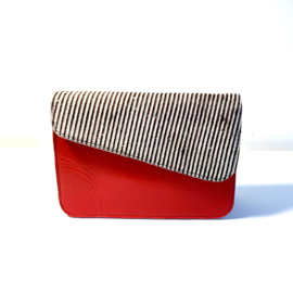 Donna-streepjes/rood