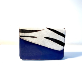 Donna-blauw/zebra