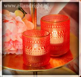 Waxinelichthouder roze small