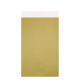 Cadeauzakje goud 7x13 cm