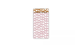 Cadeauzakje roze/roest 7x13cm