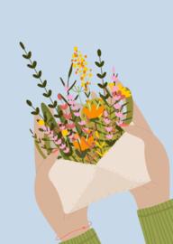 Kaart bloemetje voor jou
