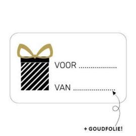 Sticker cadeau voor van