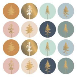 Stickers kerstbomen