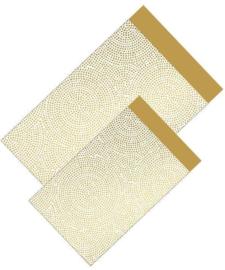 Cadeauzakje goud dots 17x25cm
