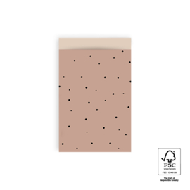 Cadeauzakje pink dots 12x19cm