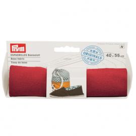 Prym Espadrilles - basisstof 40x55cm rood
