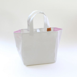 Cohana Washi projecttas handgeverfd 22x22x12cm roze