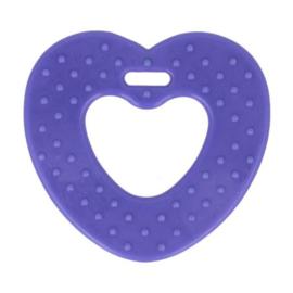 Opry Bijtring hart met noppen 65mm - - 183