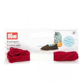 Prym Espadrilles - creatief garen rood - 3x7m
