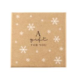 """Sieraden (cadeau) doosje """"a gift for you"""" Brown"""