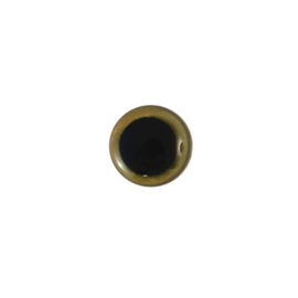 Dierenogen zwart en helder goud 10mm