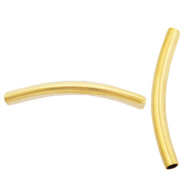 Roestvrij stalen (RVS) Stainless steel onderdelen tube 40x4mm Goud 1 stuk