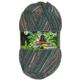 Opal Regenwald 16 4-draads 100g  9906 Bruin, Grijs, Beige