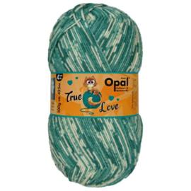 Opal True Love 4-draads 100g  9866 Groen, Ecru, Beige