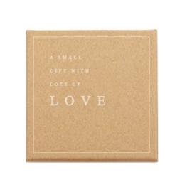 Sieraden (cadeau)doosje 'A small gift with lots of LOVE' Brown