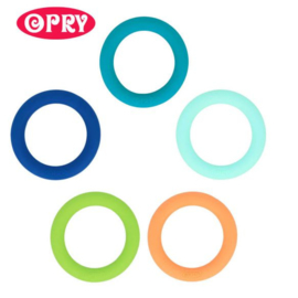 Opry Siliconen bijtring rond 65mm - 5st - AST3