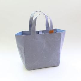 Cohana Washi projecttas handgeverfd 22x22x12cm blauw