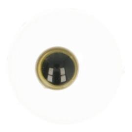 Dierenogen zwart en helder goud 8mm