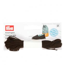 Prym Espadrilles - creatief garen chocolade - 3x7m