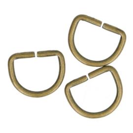 D-Ringen 15mm  Oud goud