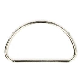 Gesloten D-ringen metaal 50mm nikkel