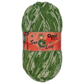 Opal True Love 4-draads 100g  9863  Groen, Ecru, Beige