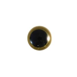 Dierenogen zwart en helder goud 12mm