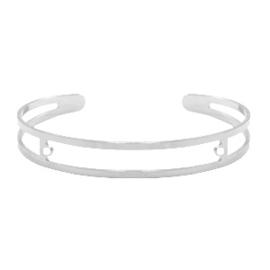 DQ metaal basis armband 9x60mm met twee oogjes Antiek zilver (nikkelvrij)