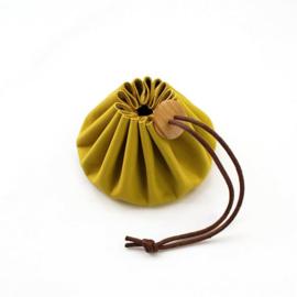 Cohana Himeji leren tasje geel