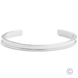 Roestvrij stalen (RVS) Stainless steel Miyuki exchange armbanden Silver