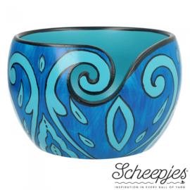 Scheepjes Yarn bowl mango hout 11x12,5cm Blue Leaf - 1st