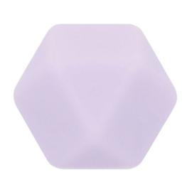 Opry Siliconen kralen hexagon 17mm -5st - 187 licht paars