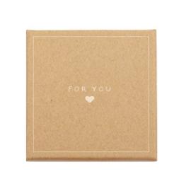 Sieraden (cadeau)doosje 'for you ♥' Brown
