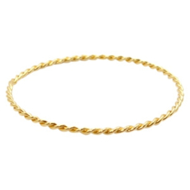TQ metaal bangle armband Goud (nikkelvrij)