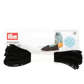 Prym Espadrilles - creatief garen zwart - 3x7m