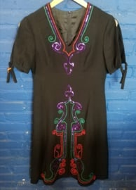 Black dress with sequins Size S