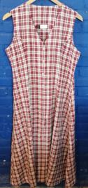 Checkered dress brown Size: L