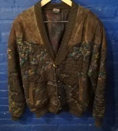 Leather Aztec coat. Size: M