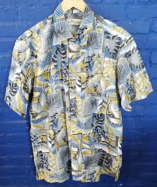 Hawaii Shirt with palm leaves Size: XL