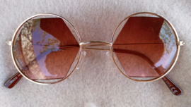"Sunglasses  ""edges"" brown/gold"
