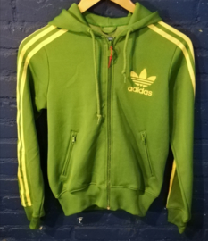 Green Adidas track top - Size M