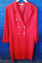 Red dress with gold colour buttons  Size XL